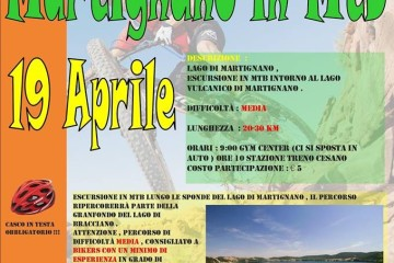Mountain bike al lago di Martignano