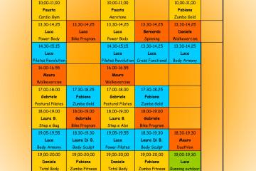 Orario Provvisorio Fitness dal 22 Settembre 2014