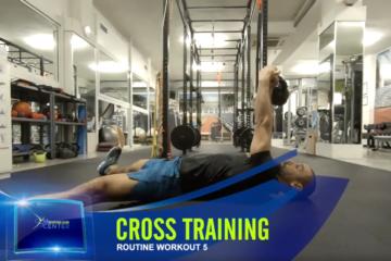 Cross-Training, Rouine 5, Half Turkish Get-UP, Push UP SIT-THROUGH
