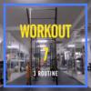 Workout7  esercizio per pettorali ed addominali, dorsali e gambe con forza esplosiva
