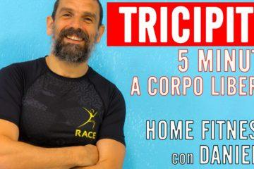 Tricipiti a Casa a Corpo Libero in 5 Min Fitness con Daniele