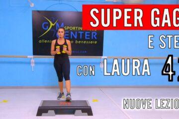 SUPER GAG e STEP. Fitness Musicale con Laura Lezione 42
