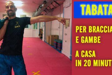 Circuito Tabata per Braccia e Gambe a casa in 20 minuti video numero 1
