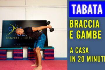 Allenamento Tabata, lezione numero 7, Braccia e Gambe a casa in 20 minuti